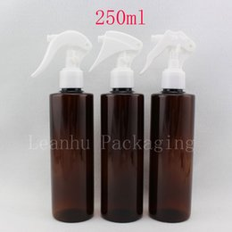 $enCountryForm.capitalKeyWord NZ - 20 X 250ml empty plastic perfume bottle, 250cc amber water pumps used for flowers,makeup PET bottle with trigger sprayer pump