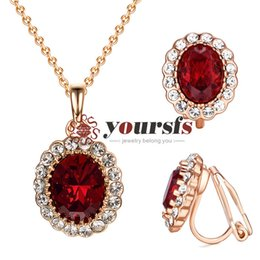 $enCountryForm.capitalKeyWord Australia - Yoursfs Woman Jewelry Set Faux Emerald Green Crystal Oval Gemstone Earrings Necklace Ring Set for Women Bridal Vintage Jewelry