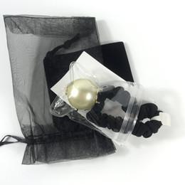 3CM Супер хорошее качество C письмо волосы веревка с отметками, ручной большой жемчуг подарок кольцо волос голова волос веревочки мяч головой резинкой головной убор партия на Распродаже
