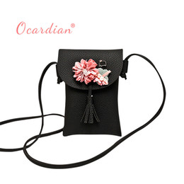 Large Flower Appliques NZ - Cheap OCARDIAN bolsos mujer Women Applique Floral Mini Handbag Phone Bag Shoulder Bag Messenger Bag Purse Casual #30 2018 sale Gift