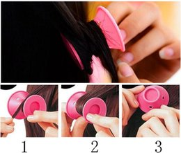 Roll Hair Rollers Australia - Silicone curlers Hairstyle Soft Hair Care DIY Peco Roll Hair Style Roller Curler Salon Soft Silicone Pink Color Hair Roller