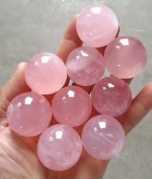 Glossy Ball Australia - 9 PCS 100% natural rose quartz crystal ball healing as gift christmas dacoeation wedding return gift