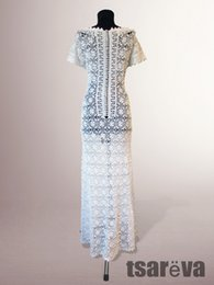 462bce375aed Vestido de crochê Meredith. Handmade mulheres brancas de casamento ou  ocasião especial de algodão orgânico crochet vestido Feito por encomenda.