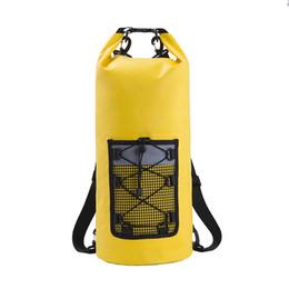 $enCountryForm.capitalKeyWord Australia - 20L PVC Coated Fabric Tarp Waterproof Bags Storage Dry Bags Sport Outdoor Packs Dry Storage Ocean Backpack For Travel Canoe Kayak Rafting