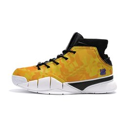 $enCountryForm.capitalKeyWord UK - Cheap mens Kobe 1 Protro basketball shoes x Undefeated yellow red white blue boys girls kids high top sneakers with box