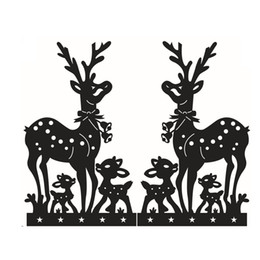 Discount smallest windows pc - High Quality 1 Pc Christmas Decoration Wall Stickers Deer Decal Window Murals Waterproof