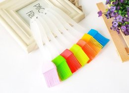 $enCountryForm.capitalKeyWord Australia - Small Size Silicone Oil Brush High Temperature Resistant Barbecue Seasoning Brush Multicolor DIY Cake BBQ Tool 6889