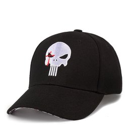 Skull Cap Ball Australia - Punisher Skull Cap Hat Hip-hop Adjusted Strapback Chris Kyle Cap American Sniper Navy Seal Free Shipping Wholesale