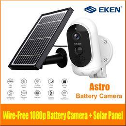 Wholesale Original EKEN AStro 1080p Full HD Battery Camera with Solar Panel IP65 Weatherproof Motion Detection 6000mAh battery Security Camera
