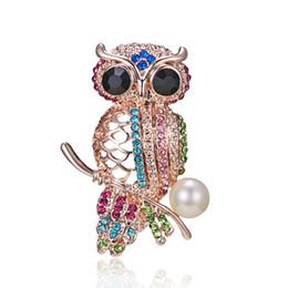 $enCountryForm.capitalKeyWord Australia - 2019 Fancy Owl Pin Brooch Designer Brooches Badge Metal Enamel Pin Broche Women Luxury Jewelry Wedding Party Decoration