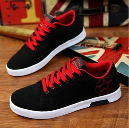 nice casual sneakers UK - new autumn mens canvas shoes Korean nice casual shoes the low heeled shoes for men high top sneakers