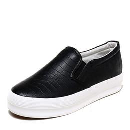 $enCountryForm.capitalKeyWord UK - Platform Sneakers 2019 Spring Leather Thick Soled Ladies Casual Shoes Women Platform Shoes Woman Sneakers Female Sliver Black Slip-on Flats