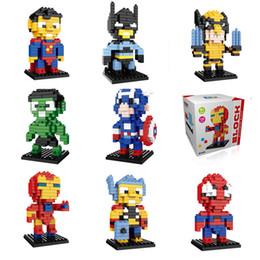 $enCountryForm.capitalKeyWord Australia - Mini Super Hero Figures DC Avengers 4 Marvel 3 Endgame Brick Heads Iron Man Spider Man Building Blocks Toys
