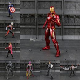 Wholesale The Avengers Iron Man Captain America Black Panther Winter Soldier Ant Man Falcon Scarlet Witch Vision Hawkeye Action Figure Model kids toys
