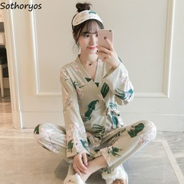 sexy japanese clothing NZ - Pajama Sets Women Sleepwear Spring Autumn Long Sleeve Japanese Style Sweet Cute Student Home Wear Womens Clothing Chic Casual
