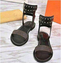 $enCountryForm.capitalKeyWord Australia - Summer Retro Roman Slides Shoes Sandal for Girl Breathable Slides Heeled Leathe Dress Open Toe Size 35-40 with Box Crystal Wife X2