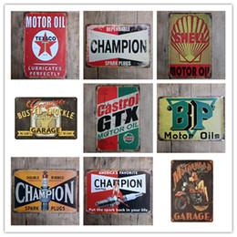 $enCountryForm.capitalKeyWord Canada - Champion Shell Motor Oil Garage Route 66 Retro Vintage TIN SIGN Old Wall Metal Painting ART Bar Man Cave Pub restaurant home Decoration