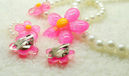 Children Set Ring Bracelet Australia - FLOWER CHILDREN JEWELRY SET GIRL BEADS NECKLACE BRACELET ring EARRING jewelry SET 4PCS ONE SET Baby Kids Christmas Gifts