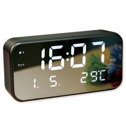 $enCountryForm.capitalKeyWord NZ - New LED Music Alarm Clock USB Powered Night light Backlight Creative 25 Songs Music Alarm Clock Home Decor Desktop Clock