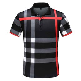 Wholesale long sleeve polo for men resale online – Poloshirt Solid Polo Shirt Men Luxury Polo Shirts short Sleeve Men s Basic Top Cotton Polos For Boys Brand Designer Polo Homme FC119