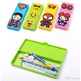 Blocks For Girls Australia - Blocks Pencil Cases Bricks Stationery Box for Children Boys Girls Creative Building Blocks School Stationery Holder Kids Promotional Gifts