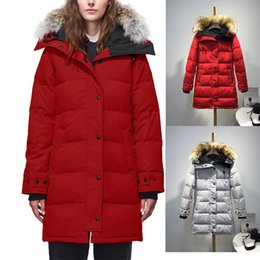 $enCountryForm.capitalKeyWord Australia - DHL Women Goose Shelburne Parka Wolf Hair Outdoor Winter Warm Cold-Proof Designer Coat Long Ladies Black Goose Down Jacket