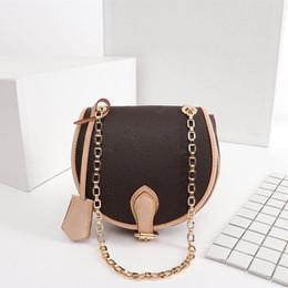 Discount handbags rhinestones - Latest Luxury Saddle Fashion alphabet pattern woman designer bag High quality canvas mini handbag Size 18cmx19cmx8cm Mod