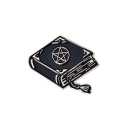 acrylic magic ball Australia - Witch Wizard Magic Book Tarot Hat Ball Triple Moon Brooch Dark Punk Halloween Metal Enamel Pins For Women Men Fashion Jewelry