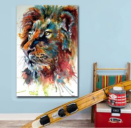 Oil Ink NZ - 1 Piece Fashion Printing Oil Painting Ink Art Lion Head Wall Art Canvas Print Pictures For Living Room And Bedroom No Frame