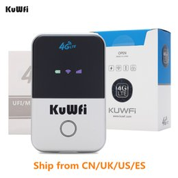Mini Wifi 4g Australia - KuWfi 4G Wifi Router Mini 3G 4G LTE Wireless Router Portable Pocket Wi-fi Mobile Hotspot Car Wi-fi With Sim Card Slot