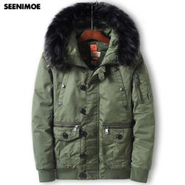 a430b23a19e Seenimoe 2019 Brand Winter Parkas for Man With Fur Thicken EU Size M-3XL  Windproof Winter Jacket Solid Color Mens Long Warm Coat