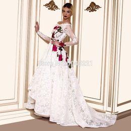 $enCountryForm.capitalKeyWord NZ - White Lace Saudi Arabic Evening Dress For Formal 2019 Robe De Soiree Long African Dubai Islamic Prom Dress Party Kaftans Gown