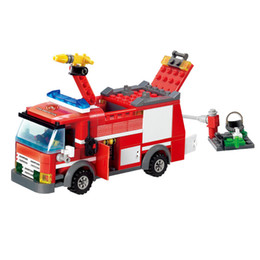 Counting Blocks Australia - engine Fight Fire Engine Series Building Block Truck Earlly Education Learning DIY Toy for Children Diecasts & Toy Vehicles