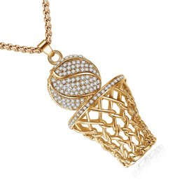 $enCountryForm.capitalKeyWord Australia - High Quality Fashion Basketball Rim Pendant Charm Men's Basketball Necklace Pendant