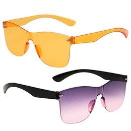 0e7aa9586bca 2019 Women Sunglass Candy Color Gradient Women Sunglasses Sexy Glasses  Anti-Reflection Frameless Glasses UV400 BUY 1 GET FREE 1