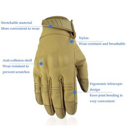 black yellow bicycle gloves Australia - New Tactical Gloves Army Military Camo Sport Full Finger Glove Bicycle Hiking Climbing