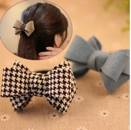 double clip for hair NZ - New fashion Bow Hair Clip Headwear Hair accessories for women Korean Hair Ring Double Rope Elastic Ponytail Holder