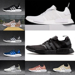 32ef0deb4 2019 Wholesale R1 Shoes Discount Cheap Japan red gray NMD Runner R1  Primeknit PK Low Men s   Women s shoes Classic Fashion Sport Shoes