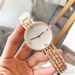 Wholesale New Women s Watch Fashion Accessories Circle Watch Disc Gold Steel with quartz movement Diamond Women s Business Leisure Sports Dr