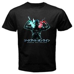 Ingrosso T shirt Uomo Nuovo San Sword Art Online Kirito Anime divertente del fumetto tshirt donne novità tshirt