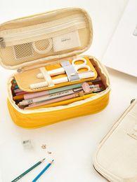 Korean School Stationery Australia - Korean Kawaii Penal Cute School Pencil Case Large Big Pen Bag Pouch Multifunction Stationery Box Supplies Cosmetic Box 2018 2019