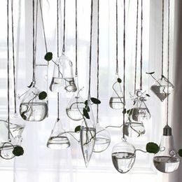 $enCountryForm.capitalKeyWord Australia - Clear Glass Flower Plant Stand Hanging Vase Ball Terrarium Container Home Decor Vase Decoration Home