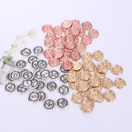 $enCountryForm.capitalKeyWord Australia - 26pcs 18mm Round Silver plated capital letter charms rose gold alphabet beads metal initial pendants diy name tag jewelry making