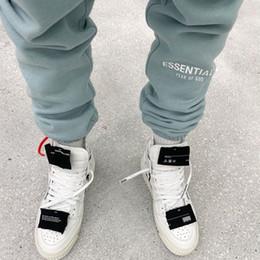 Wholesale grey sweatpants for sale – dress 3M Refelcitive Mens Sweatpants Essential FOG Mens Pants Candy Color Letter Embroidery Long Pants