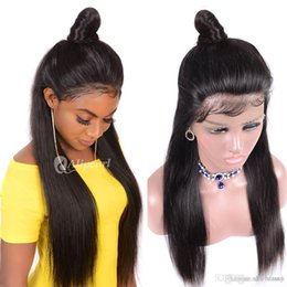 straight lace front wig cheap UK - 360 Full Lace Human Hair Wigs Pre Plucked Cheap Long Straight Peruvian Virgin Lace Front 360 Human Hair Wig With Baby Hair