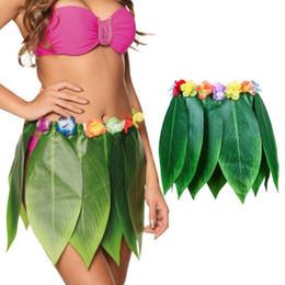 $enCountryForm.capitalKeyWord Australia - Hot Women Ladies Summer Leaves Floral Boho Skirts Short Hawaiian Hula Grass Party Luau Skirt Beach Dance Costume Sundress