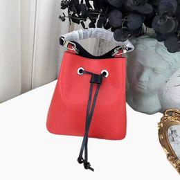 Discount tote bucket bag drawstring - Wholesale New Fashion Bucket Pu Leather ShoulderBags Tote Crossbody Handbags Presbyopic Shopping Bag Purse Messenger Bag