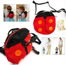 Baby Kids Keeper Safety Harness Toddler Walking Safety Harness Anti-lost  Backpack Leash Bag Strap Rein Bat Ladybug Bag 24ee52ae2d270