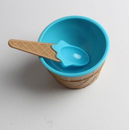 disposable ice cream bowls Australia - 6 12 set A lovely kids Ice Cream Bowls Ice cream Cup Couples Bowl Dessert ice cream bowl with a spoon Children Tableware Bol#d