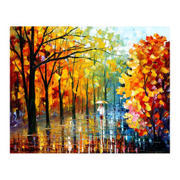 "background paintings UK - 24""x36"" Birch forest hand-painted canvas oil painting living room sofa background wall decoration painting European painteding"